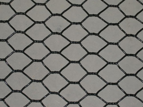 Vinyl Coated Chicken Mesh in Black Color
